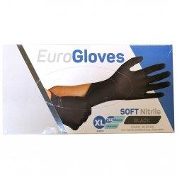 Euro Gloves Soft Nitrile 200 Gants Noirs XL Non Poudrés