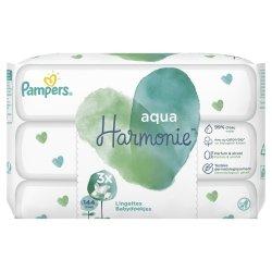 Pampers Aqua Harmonie Lingettes Bébé 144 lingettes