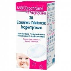 Mercurochrome Pitchoune Coussinets d\'allaitement 30 pièces