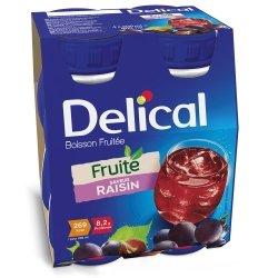 Delical Fruité Boisson Fruitée Saveur Raisin 4x200ml