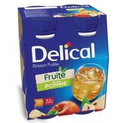 Delical Fruité Boisson Fruitée Saveur Pomme 4x200ml