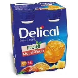 Delical Fruité Boisson Fruitée Saveur Multi-fruits 4x200ml