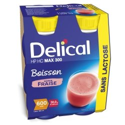 Delical Boisson HP HC Max.300 Fraise 4x300ml