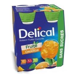 Delical Fruité Boisson Edulcorée Saveur Orange 4x200ml