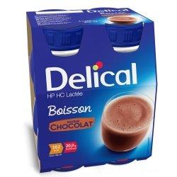 Delical Lactée Boisson HP HC Chocolat 4x200ml