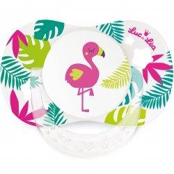 Luc & Léa Duo Sucettes Symétriques Flamant Rose / Hibiscus 18 mois+