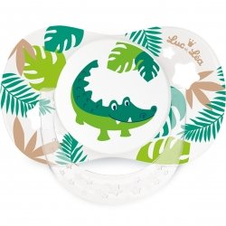 Luc & Léa Duo Sucettes Symétriques Crocodile / Empreintes 18 mois+