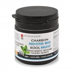 Vecteur Santé Charbon Menthe Bio Blanchiment Dentaire 30g