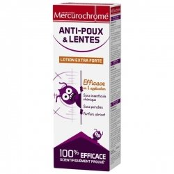 Mercurochrome Anti-poux & Lentes Lotion Extra Forte 100ml