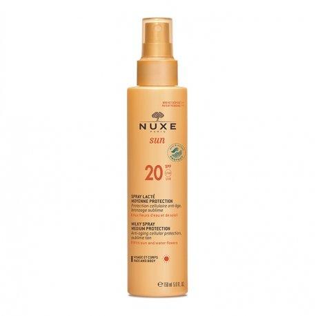 Nuxe Sun Spray Lacte Visage et Corps SPF20 150ml