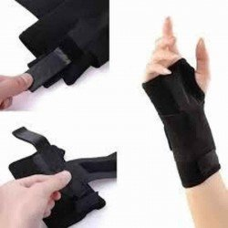 Carpal tunnel wrist support - bandage poignet du syndrome du canal carpien black left one size 454r