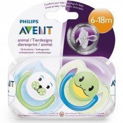 Avent sucette animals 6-18 mois scf182/24