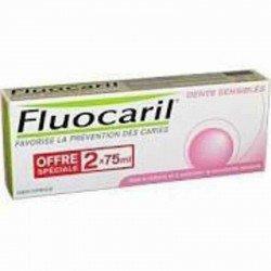 Fluocaril dentifrice pour dents sensibles 2 x 75ml