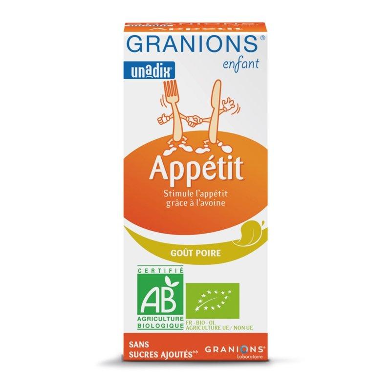 Granions Enfant Appétit Goût Poire 125ml