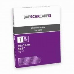 Bap scar care pansement silicone auto-adhesive 10x15cm 10 601015