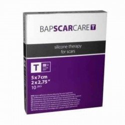 Bap-medical Bap scar care t pansement siliconé auto-adhésif fin transparent 5x7cm 10 pièces (600507)