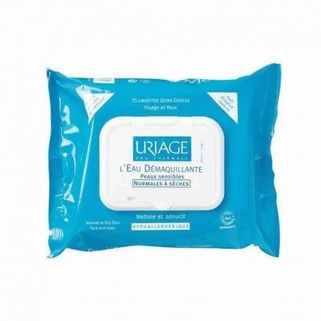 Uriage Lingettes démaquillante peau normale-seches 25