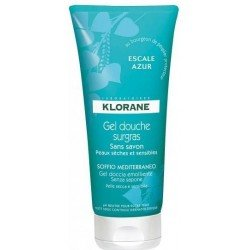 Klorane Escale azur gel douche surgras tube 200ml