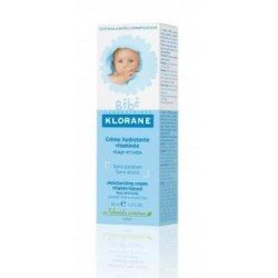 Klorane bébé crème hydratante vitaminée tube 40ml