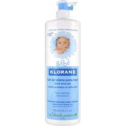 Klorane bébé lait de toilette protecteur flacon pompe 500ml