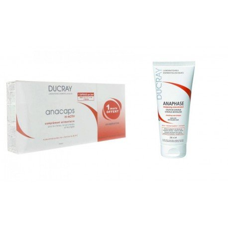 Ducray Anacaps tripack 90caps + Anaphase shampooing 200ml