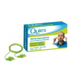 Quies protection auditive silicone souple + cordellette (1 paire