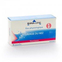 Rhina-care eau physiologique 40 monodoses
