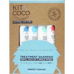 Kit&coco shampooing traitant recharge 4x25ml