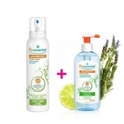 Pack Puressentiel Gel antibactérien assainissant 250ml + Spray assainissant aux 41 huiles essentielles 200ml