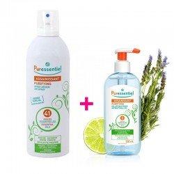 Pack Puressentiel Gel antibactérien assainissant 250ml + Spray assainissant aux 41 huiles essentielles 500ml