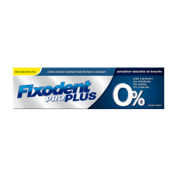 Fixodent Pro plus 0% pate adhesive 40gr